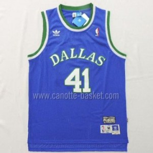 Maglie nba Dallas Mavericks Dirk Nowitzki #41 Retro blu