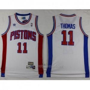Maglie nba Detroit Pistons Isiah Thomas #11 bianco