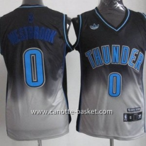 Maglie nba Oklahoma City Thunde Russell Westbrook #0 Fadeaway Moda