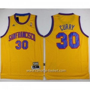 Maglie nba Golden State Warriors Stephen Curry #30 giallo