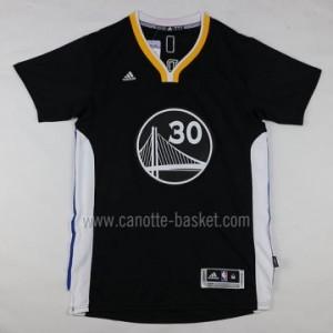 Maglie nba Golden State Warriors Stephen Curry #30 nero manica lunga