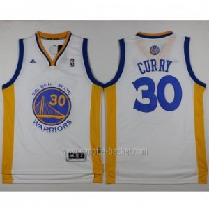 Maglie nba Golden State Warriors Stephen Curry #30 nuovi tessuti bianco
