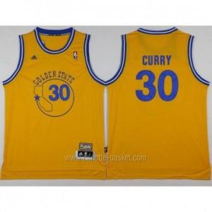 Maglie nba Golden State Warriors Stephen Curry #30 nuovi tessuti giallo