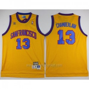 Maglie nba Golden State Warriors Wilt Chamberlain #13 giallo Retro
