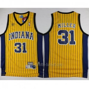 Maglie nba Indiana Pacers Reggie Miller #31 giallo strisce