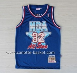 Maglie 1992 All-Star Magic Johnson #32 blu