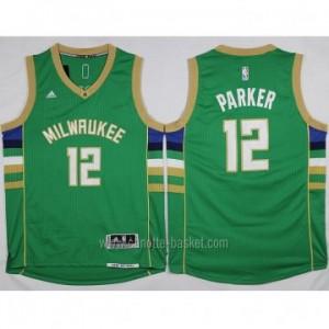 Maglie nba Milwaukee Bucks Jabari Parker #12 verde 15-16 stagione