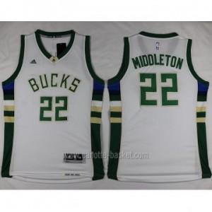 Maglie nba Milwaukee Bucks Khris Middleton #22 bianco 2016 stagione