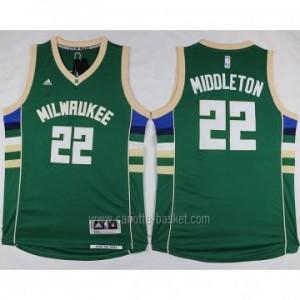 Maglie nba Milwaukee Bucks Khris Middleton #22 verde 2016 stagione