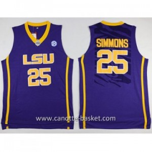 Maglie nba NCAA Louis University Jonathon Simmons #25 porpora