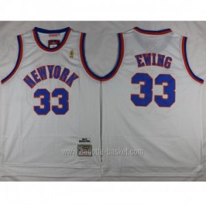 Maglie nba New York Knicks Patrick Ewing #33 bianco