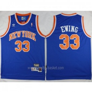 Maglie nba New York Knicks Patrick Ewing #33 blu