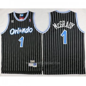 Maglie nba Orlando Magic Tracy McGrady #1 nero strisce