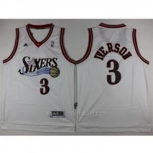 Maglie nba Philadelphia 76ers Allen Iverson #3 bianco