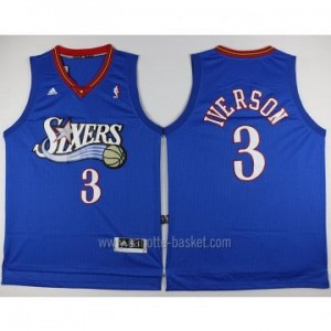 Maglie nba Philadelphia 76ers Allen Iverson #3 blu