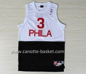 Maglie nba Philadelphia 76ers Allen Iverson #3 Bianco e Nero