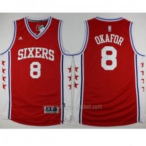 Maglie nba Philadelphia 76ers Jahlil Okafor #8 rosso