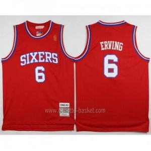 Maglie nba Philadelphia 76ers Julius Erving #6 rosso