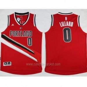 Maglie nba Portland Blazers Damian Lillard #0 rosso nuovo