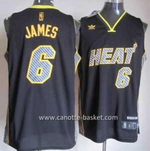 Maglie nba Miami Heat LeBron James #6 Relampago