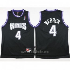 Maglie nba Sacramento Kings Chris Webber #4 nero