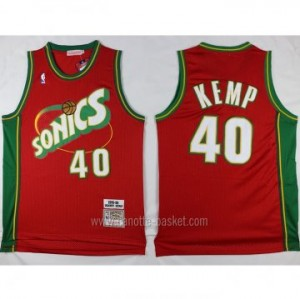 Maglie nba Seattle SuperSonics Shawn Kemp #40 rosso classico