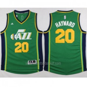 Maglie nba Utah Jazz Gordon Hayward #20 verde 2015 stagione