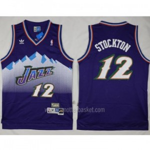 Maglie nba Utah Jazz John Stockton #12 porpora snow Mountain Editio