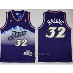 Maglie nba Utah Jazz Karl Malone #32 porpora snow Mountain Editio