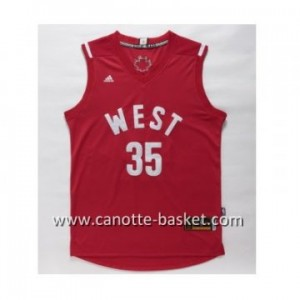 Maglie 2016 West All-Star Kevin Durant  #35 rosso