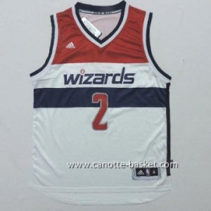 Maglie nba Washington Wizards John Wall #2 bianco