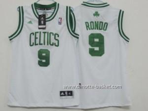Maglie nba bambino Boston Celtics Rajon Rondo #9 bianco