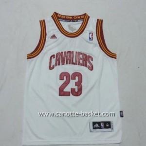 Maglie nba bambino Cleveland Cavalier LeBron James #23 bianco