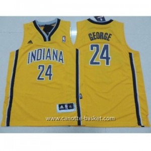 Maglie nba bambino Indiana Pacers Paul George #24 giallo