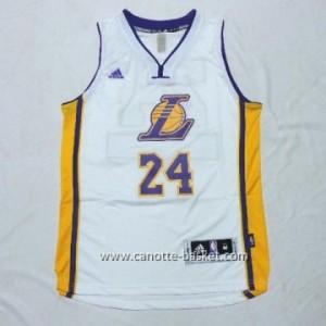 Maglie nba bambino Los Angeles Lakers KOBI BRYANT #24 bianco