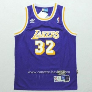 Maglie nba bambino Los Angeles Lakers Magic JORDAN #32 porpora