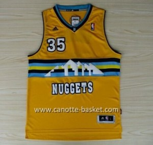 Maglie nba Denver Nuggets Kenneth Faried #35 giallo