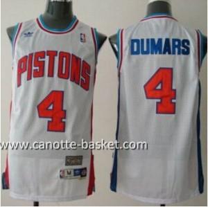 Maglie nba Detroit Pistons Joe Dumars #4 bianco