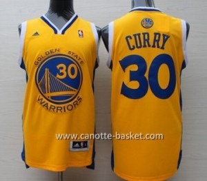 nuovo Maglie nba Golden State Warriors Stephen Curry #30 giallo