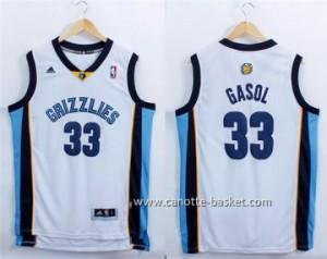 Maglie nba Memphis Grizzlies Marc Gasol #33 bianco