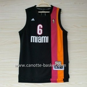 nuovo Maglie nba Miami Heat LeBron James #6 arcobaleno nero