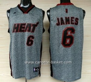 Maglie nba Miami Heat LeBron James #6 Statico Fashion