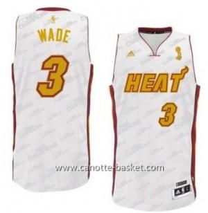 nuovo Maglie nba Miami Heat Dwyane Wade #3 oro bianco