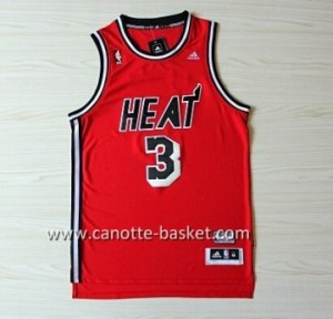 nuovo Maglie nba Miami Heat Dwyane Wade #3 retro rosso
