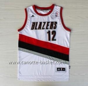 nuovo Maglie nba Portland Blazers Dwight Aldridge #12 bianco