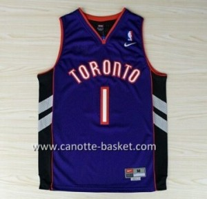 Maglie nba Toronto Raptors Tracy McGrady #1 nero