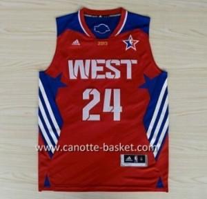 Maglie 2013 All-Star Kobe Bryant #24 rosso