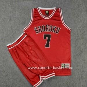 Maglie Slam Dunk Shohoku Ryota Miyagi #7 rosso