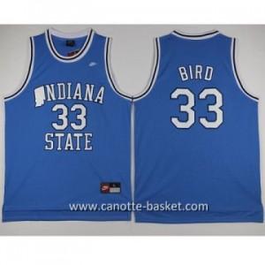 Maglie nba NCAA Indiana University Larry Bird #33 blu