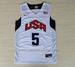 Maglie basket 2012 USA Kevin Durant #5 bianco